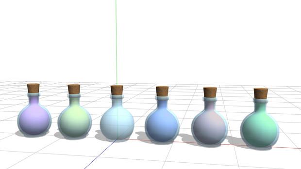 【MMD】液体の入った瓶【配布】