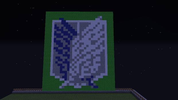 【Minecraft】 進撃の巨人 自由の翼 ドット絵
