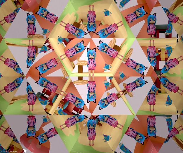 ミロさん風ミクの万華鏡 (Blender)