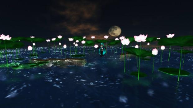【MMD】蓮の花ステージセット
