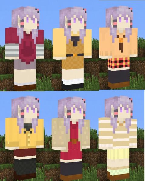 【Minecraft】秋の私服ゆかりさんスキン【結月祭】