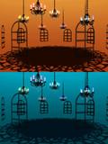 【MMD】シャンデリアのある部屋【ステージ配布】