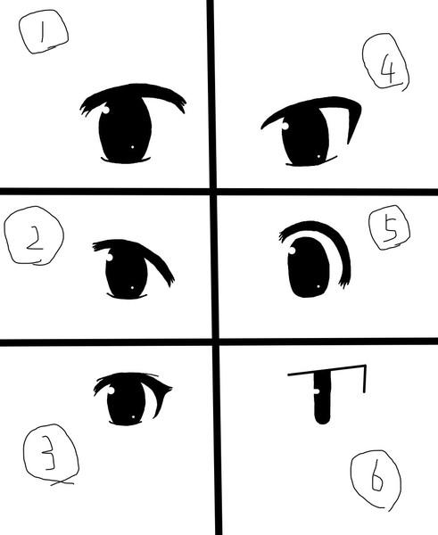 自分がすぐ思いつく目の種類 6種類 モナジ さんのイラスト ニコニコ静画 イラスト