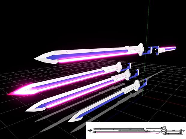 【MMDアクセサリ配布】MMI-710 エクスカリバーレーザー対艦刀
