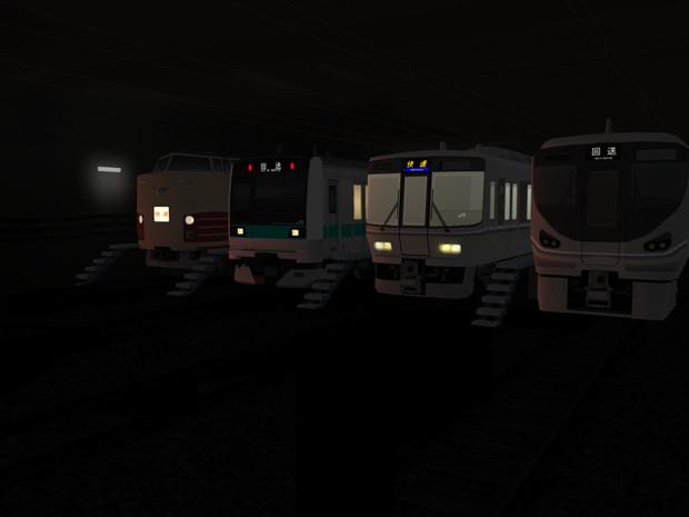 地下車両基地(架空)