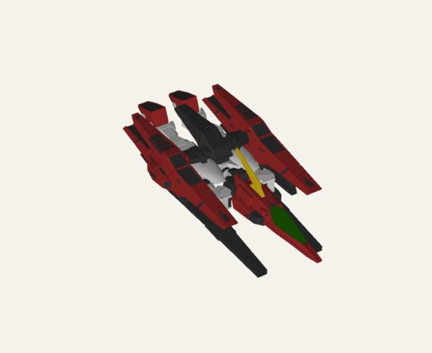 フレームGNR-101A GNアーチャー(飛行形態)