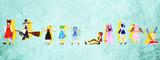 東方活動写真館 二幕EDでの立ち絵 霊夢と魔理沙と紅魔郷組(ポーズデータ配布)