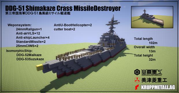 DDG-51島風級ミサイル駆逐艦