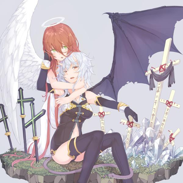 天使と悪魔女
