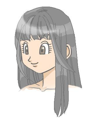 ぱっつん 前髪 イラスト