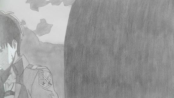 【シャーペンGIF】進撃の巨人OP(ミカサ・エレン・アルミン)12コマ版