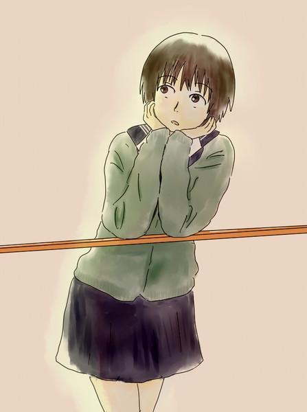 斜め上を見る女子高生 なつき さんのイラスト ニコニコ静画 イラスト