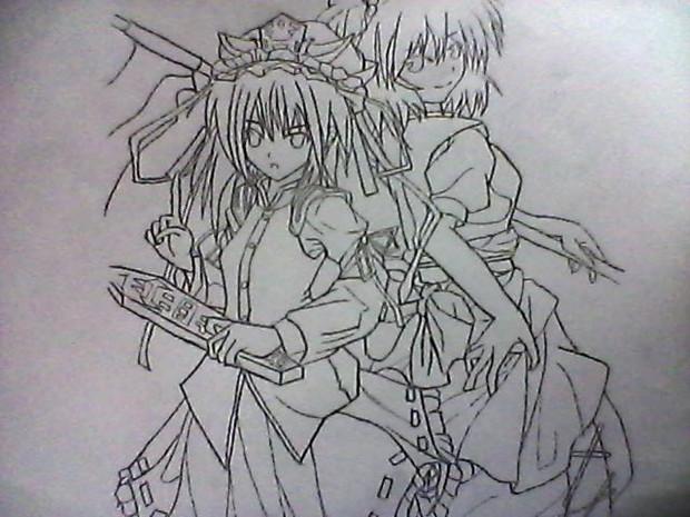 四季映姫&小町を描いてみた。(イケメン)