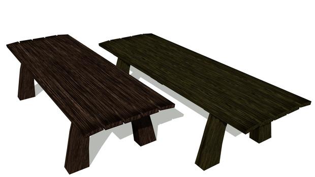 【MMD】木のベンチ【配布】