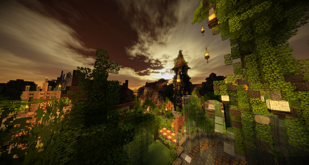 【Minecraft】魔法の街 途中経過