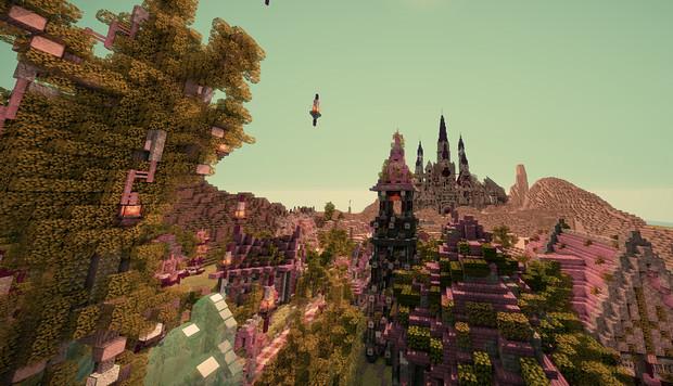 【Minecraft】魔法の街 途中経過2