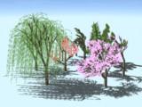 物理で揺れる樹木セット更新