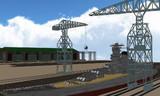 造船用大型クレーン配布