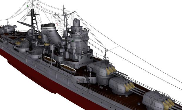 【MMD海軍】 『最上』型軽巡洋艦っぽいの 【モデル配布】