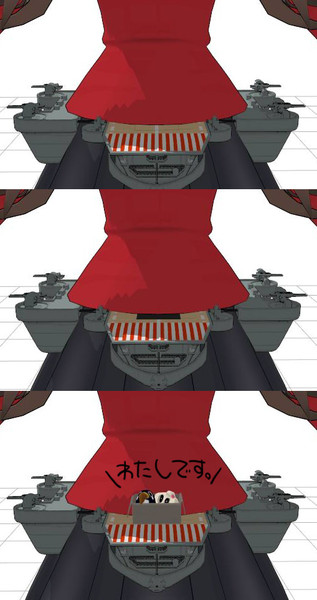 甲板のエレベーターモーフ&搭載用ダミーボーン