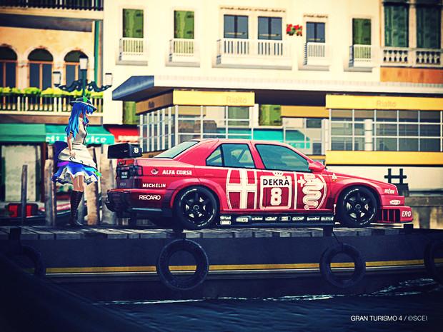 東方賽車隊・10 -アルファロメオ・155V6TI '93×比那名居天子