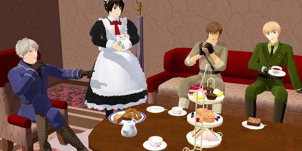 ぽかふぇ。な四人組のお茶会