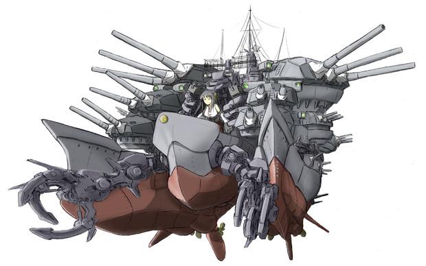 超巨大双胴航空戦艦・扶桑改X接近!