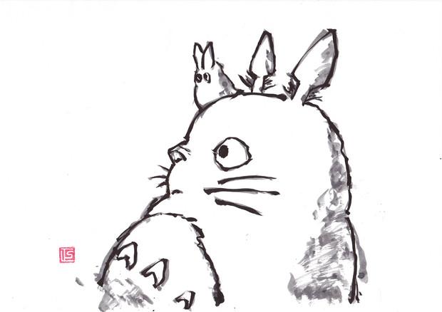 水墨画森の妖精 まさむね書道 さんのイラスト ニコニコ静画