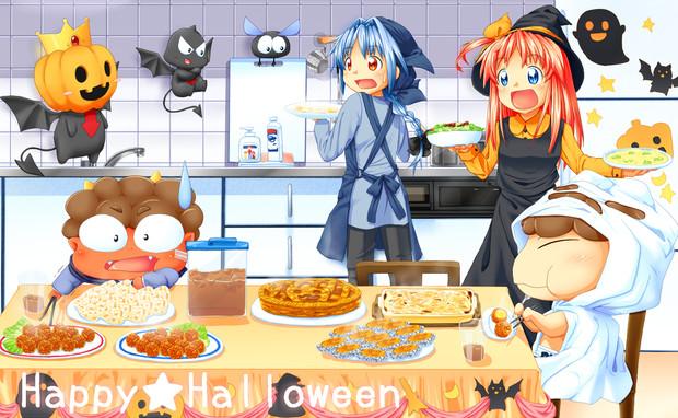 シイナとキリルとハロウィンパーティ!