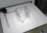 CAD画面風オブジェテスト