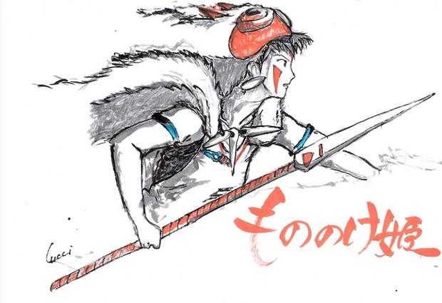 もののけ姫 サン4枠消費 るっち さんのイラスト ニコニコ静