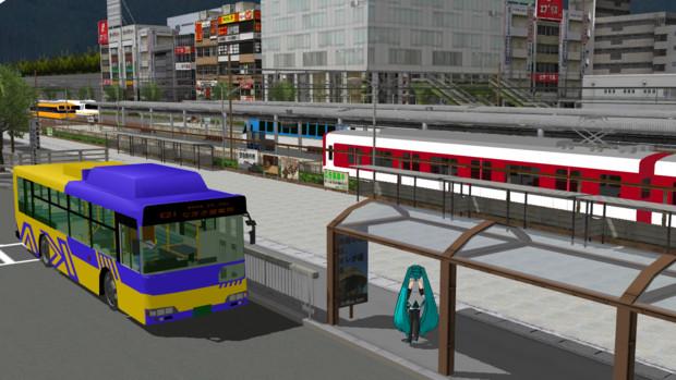 【MMD】近鉄バスっぽい色とかなんとか