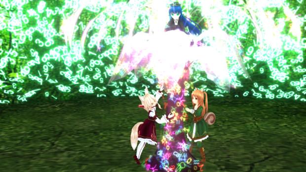 木が生えてたので飾り付け(草原エフェクトVUPです)