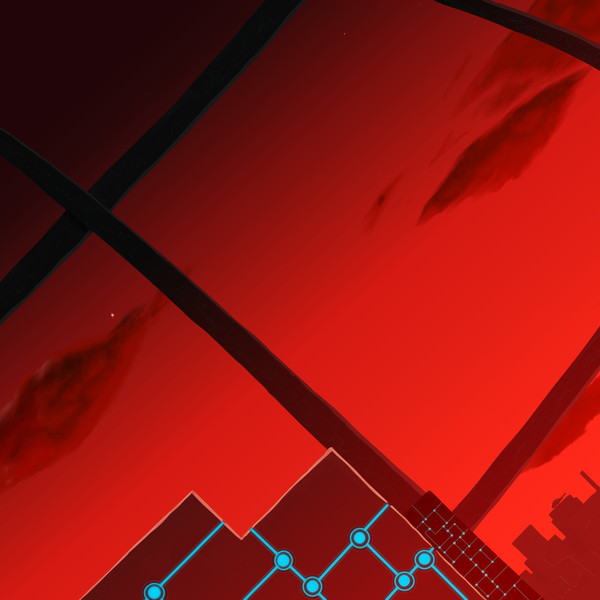 夕闇の未来都市