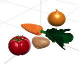 【MMDアクセサリ】カレーが作れそうな野菜セット