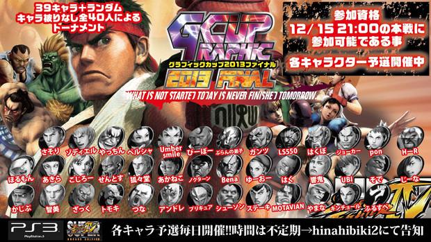 PS3版 スパⅣ Gカップ2013FINAL 12/15 21:00