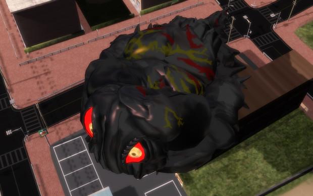 公害怪獣の飛行形態っぽいポーズ配布