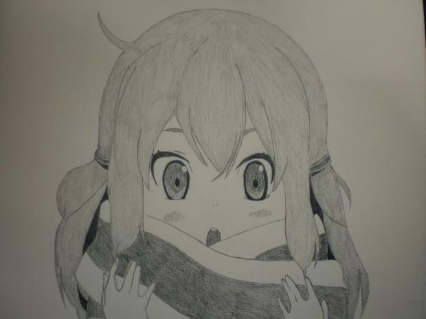 シャーペンで槍桜ヒメ(幼少期)描いてみた