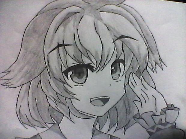 幽谷響子を描いてみた。