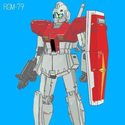 RGM-79 GM 描いてみた