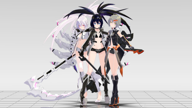 BLACK★ROCK SHOOTER THE GAME Tda式初音ミク・アペンド 改変モデル
