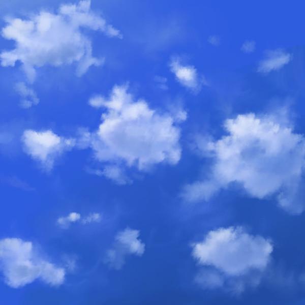 フリー素材積雲の空 まっこう4 さんのイラスト ニコニコ静画