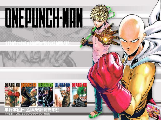 「ワンパンマン」コミックス第5巻発売記念壁紙(1024×768)