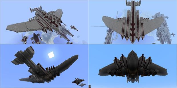 【Minecraft】大型戦略飛行艇の紹介