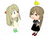 【MMD艦これ】羅針盤娘(ポニテ)[試験版]【モデル配布】