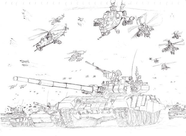 進撃のロシア軍