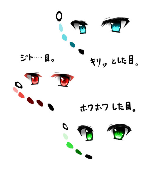 目の描き方塗り方練習中 Sirokanitama さんのイラスト ニコニコ静画