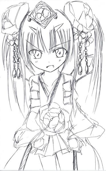 チェンクロのツル姫さまをまた描いて見た!