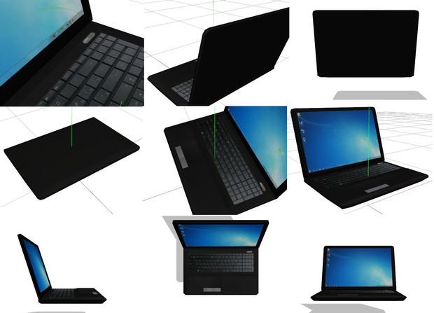 【MMDアクセ配布】WindowsノートPC