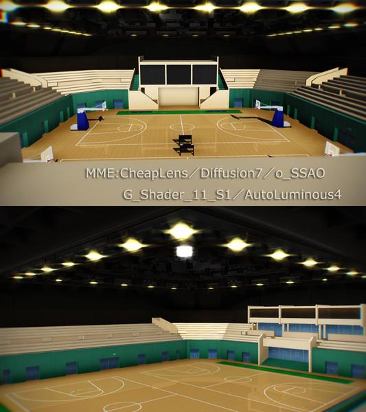 【12/20更新v1.01】試合用体育館【ステージ配布】